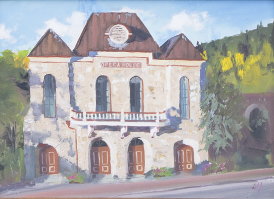 Central City Opera House painting by Andy White